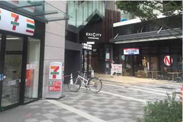 5)角を曲がりEKI CITY入り口横のエレベーターにて2階へ